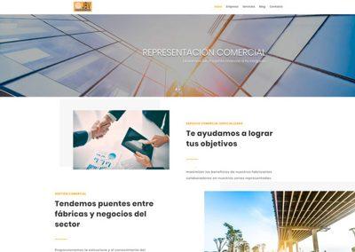 Diseño web para Representaciones JBV