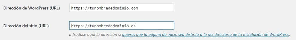 Cambiar URLs en WordPress