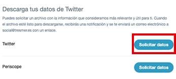Solicitar datos Twitter